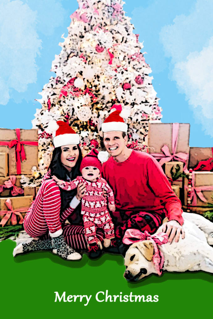 Make personalized christmas cards,portraits and gifts by Shibin