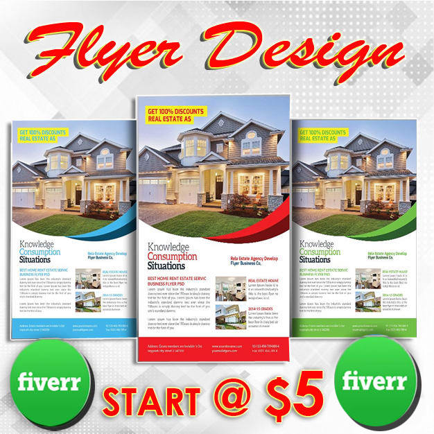 create real estate flyer by fena0220