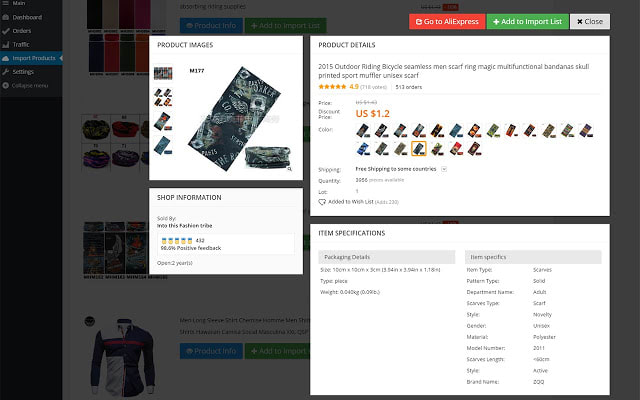 import products to your dropshipping site using alidropship
