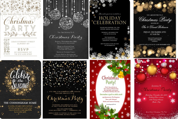 create an awesome christmas new year invitation