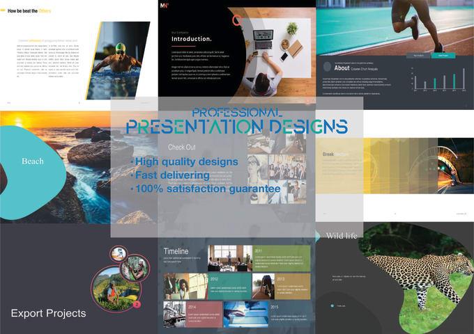 powerpoint or keynote presentation graphics design