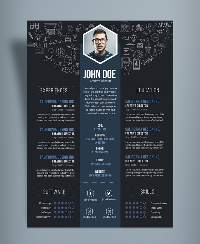 create and design a creative cv and resume by tuguldur t