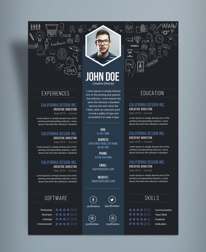 create and design a creative cv and resume by tuguldur t