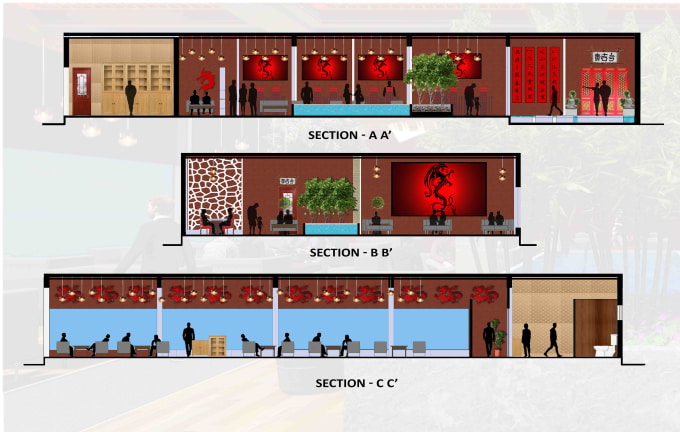 ravisingh467 : I will render interior section on photoshop in detail for $5  on www fiverr com