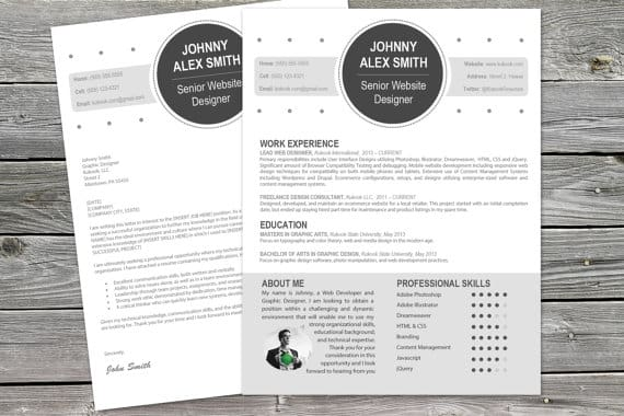 I Will Design A Sleek Resume And CV For You