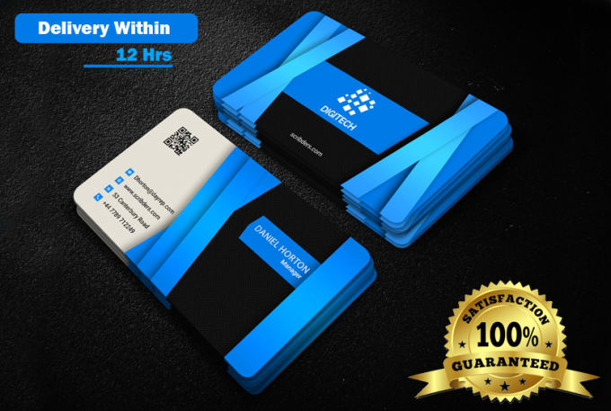 Design Stunning And Unique Business Card Within 12 Hours