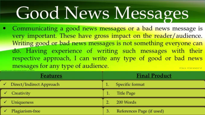 good or bad writing experience How to write an essay part 8 - examples of good and bad writing learning to write often works best by example the following are.