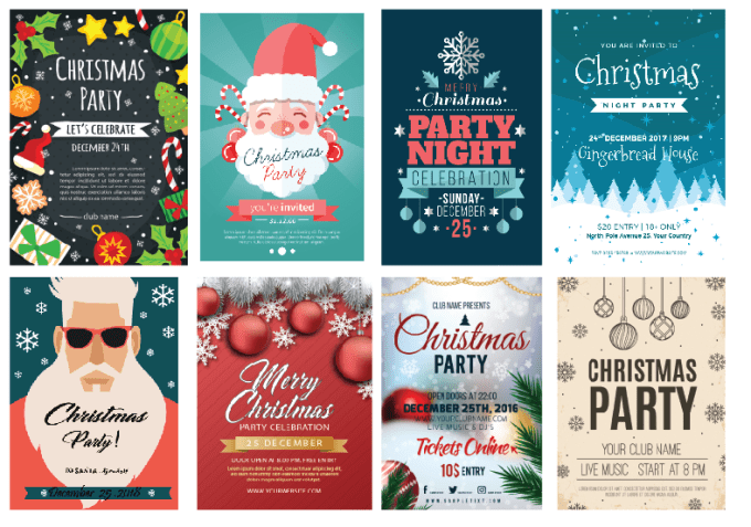 Christmas Party Poster.Design Amazing Christmas Party Poster And Christmas Card
