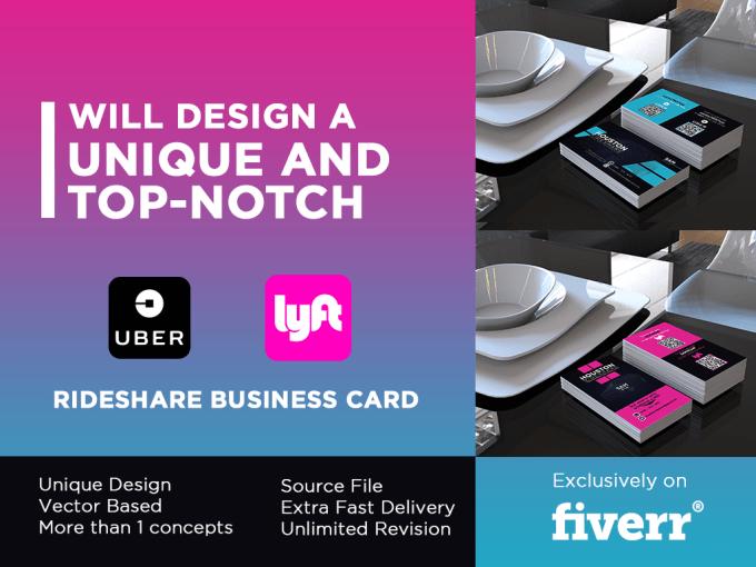 Lyft Business Cards >> Design Lyft Or Uber Rideshare Business Card