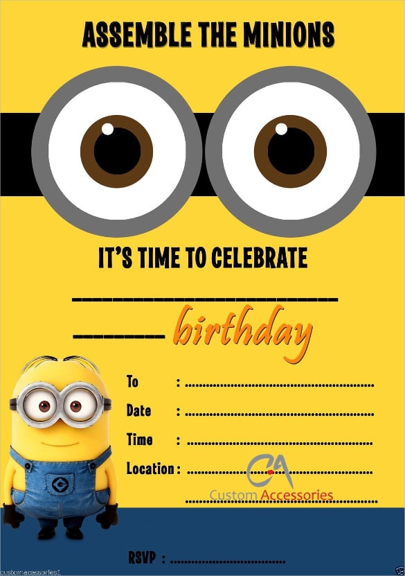 I Will Make Customized Childrens Birthday Card And Invitations