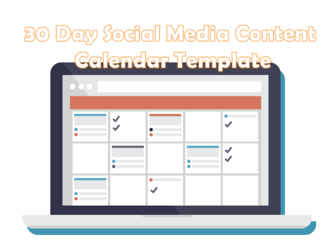 Create A Basic 30 Day Social Media Content Calendar Template By Hanper