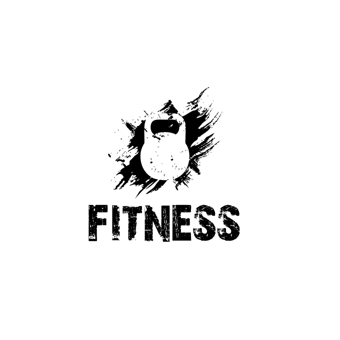 create gym fitness logo personal trainer supplements by maan services