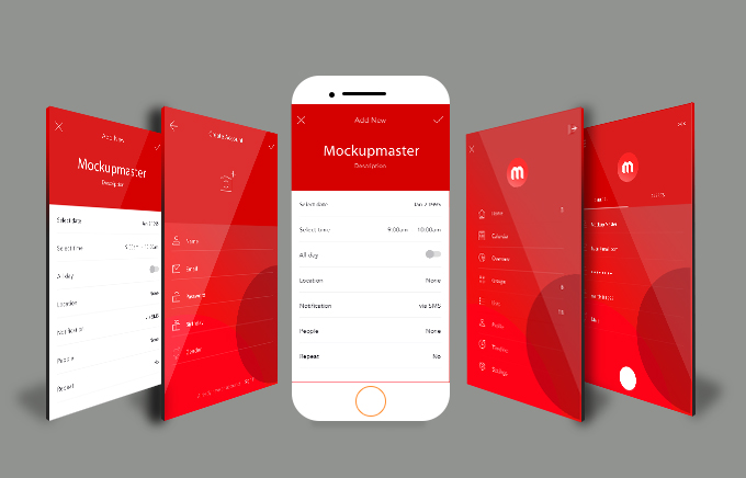 design interactive mobile app mockup for android and ios