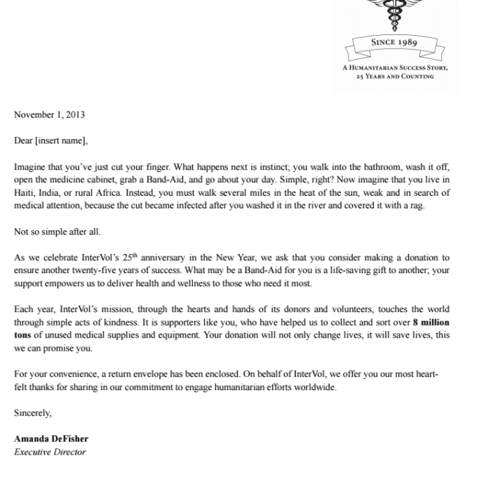 proofread current nonprofit fundraising appeal letter