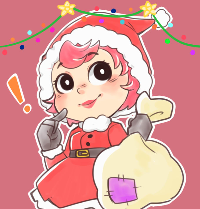 Christmas Card Drawing.Do A Cute Christmas Card Drawing Of You
