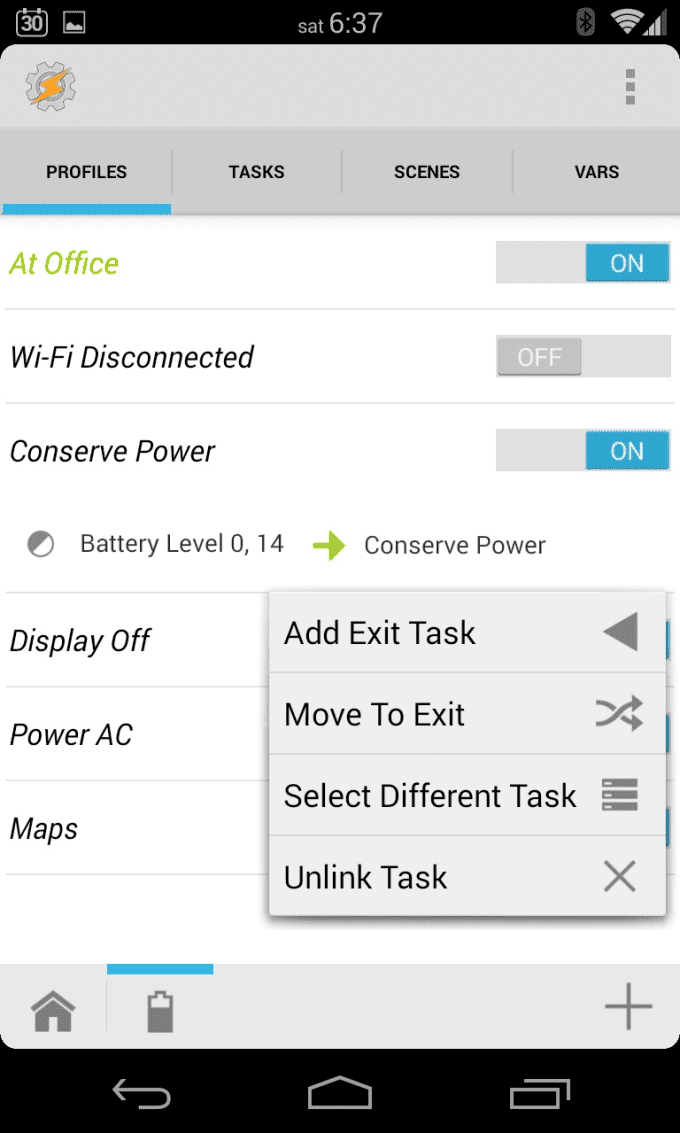 build tasker profiles for your android phone