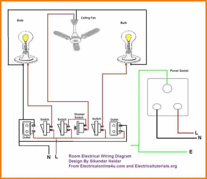 Provide A Complete Electrical Home Wiring Design Layout By Gautam Ewu