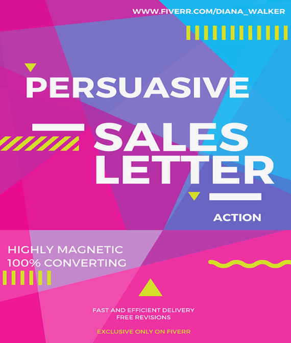 Write a powerful sales letter by Diana_walker