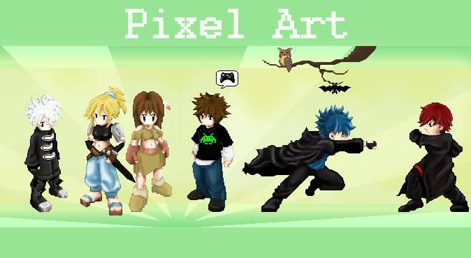 Create 2d pixel art game sprite of anything by Digital_dreamer