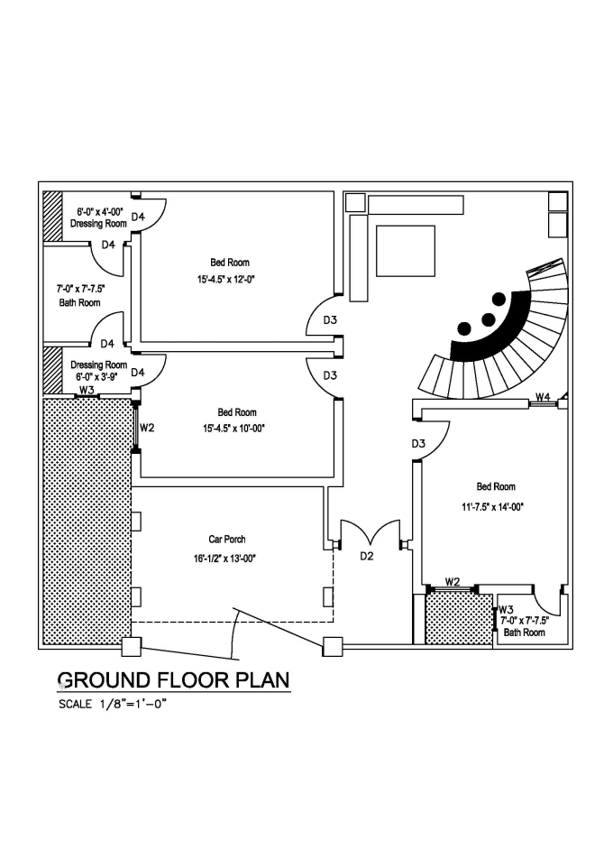 Draw your architectural floor plan in auto cad 2d by Akmaltoor
