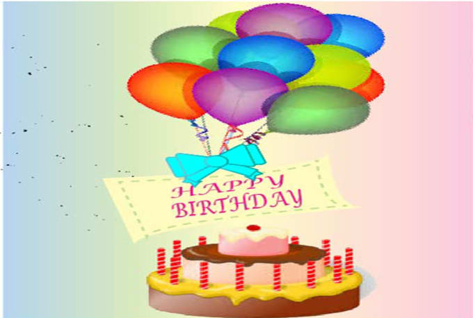 I Will Make Custom Birth Day Cards And Greeting For You