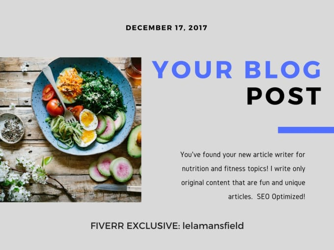 write SEO optimized nutrition and fitness articles