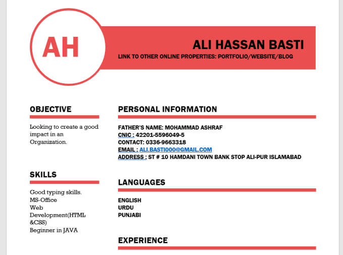 write rewrite and edit your resumes by alihaxxan918