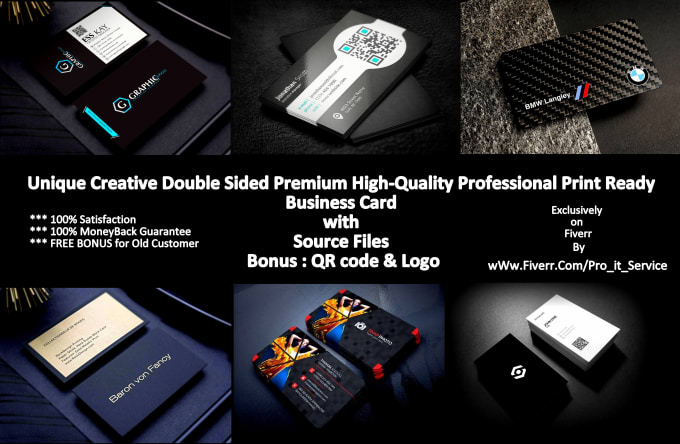Design 5 unique professional business card both side print ready in design 5 unique professional business card both side print ready in 24 hours colourmoves