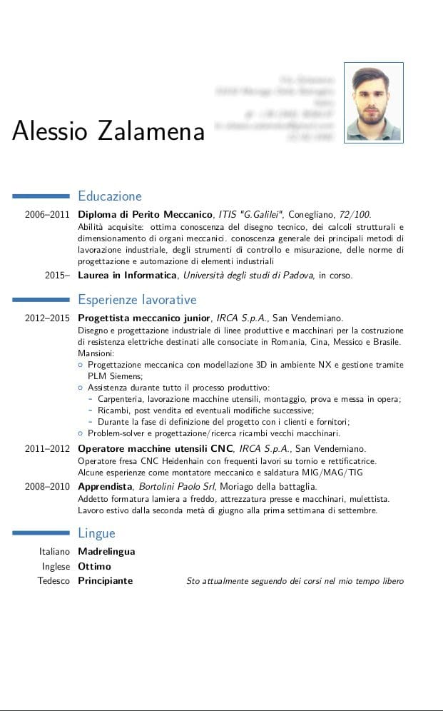 scrivo curriculum in italiano by pepsiii