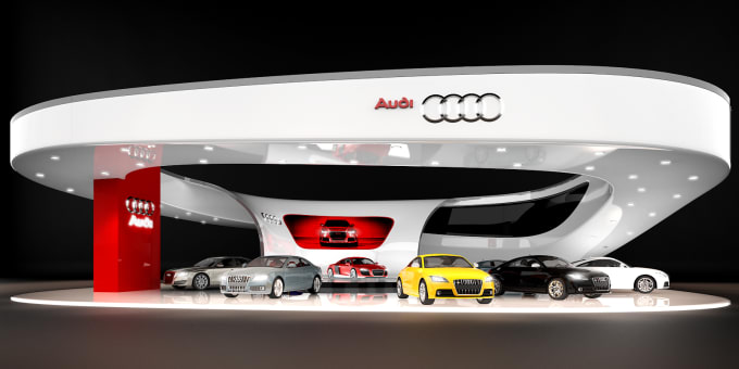 Car Expo Standsay : Create awesome renderings for your expo stand design by xrender