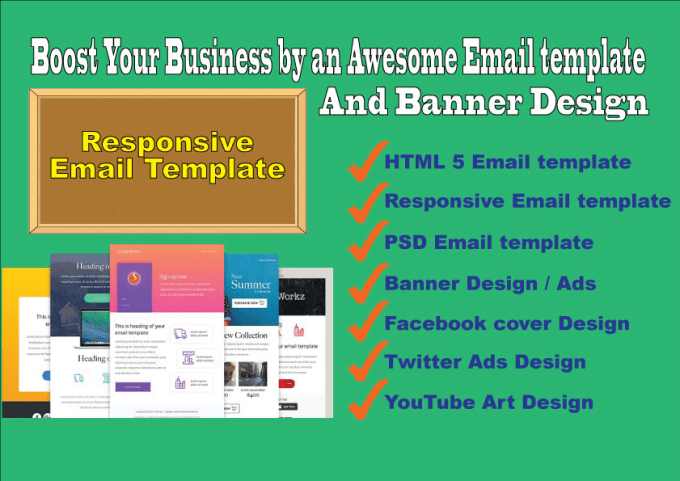 Do Awesome Responsive Email Template Banner Ads Fb