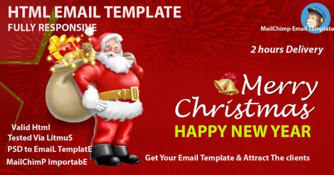 create email template by html or mailchimp or newsletter