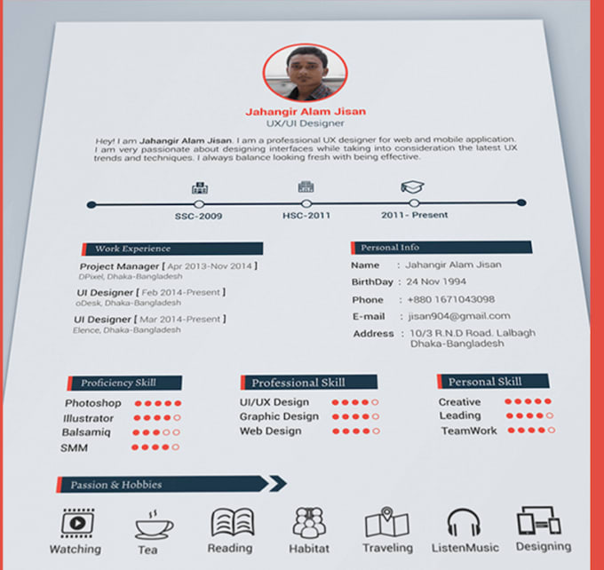 design job winning resume with free cover letter by galagala9211