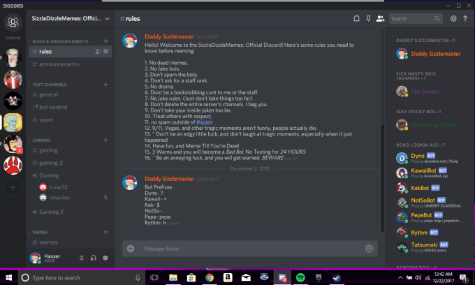 haxxerr : I will set up a discord server for you and your friends for $5 on  www fiverr com