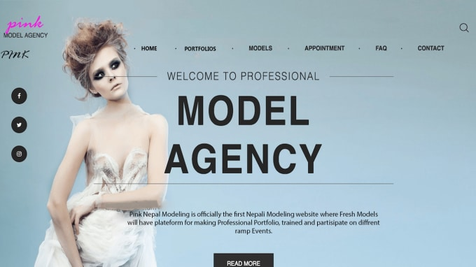 make you fully professional model portfolio,