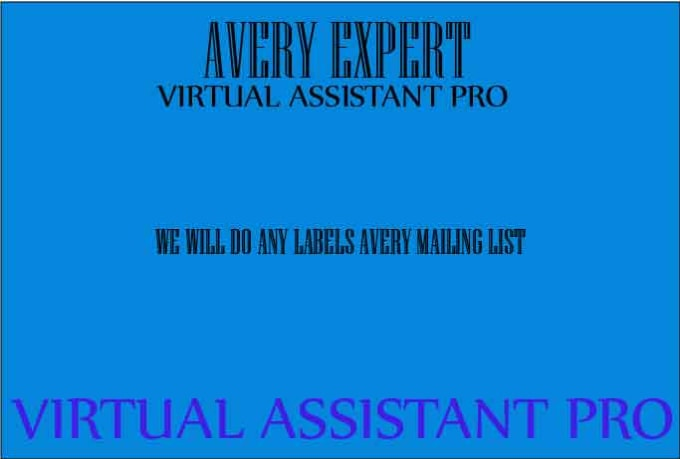 create avery 5160 mailing label and others by v assistantpro