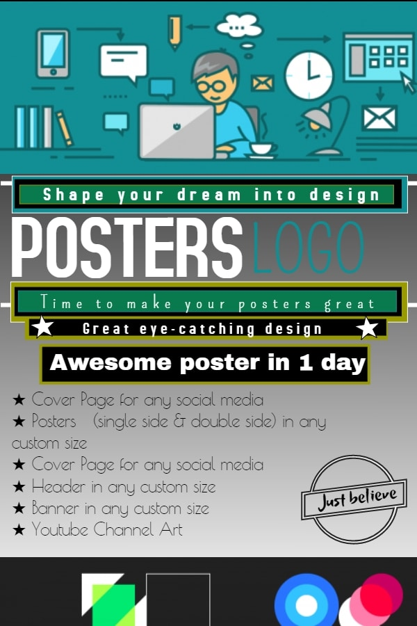 create cool posters and youtube channel arts in 12 hours by tamkin99