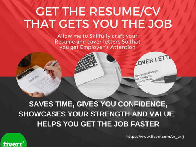 Design and write attractive resume or cv by Er_arrj