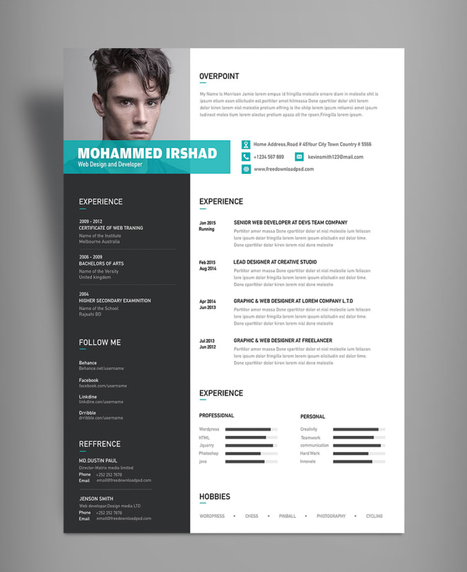 create an awesome cv in ms word by zuhair ahmad