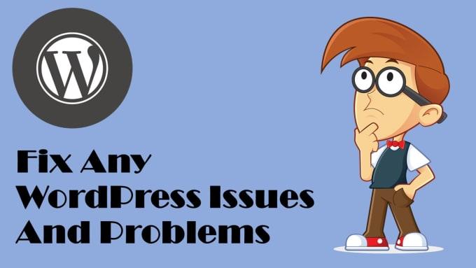 fix wordpress issues and errors