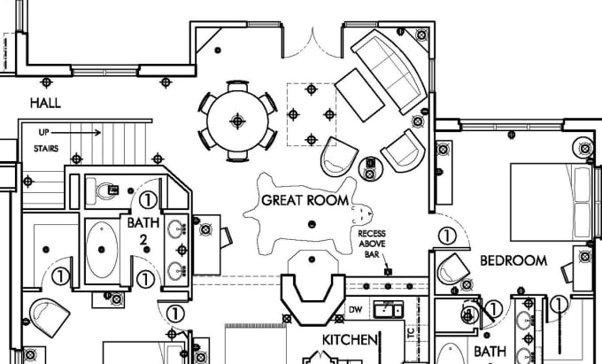 Draw Plan,elevation,section,furniture Layout,working