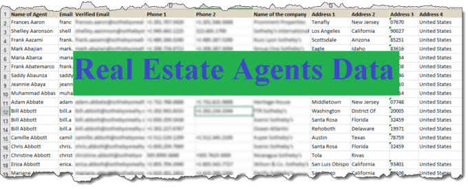 Provide Real Estate Agents Emails Phone And Addresses By Sneekyscraper
