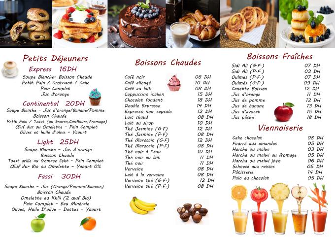 create restaurant menu design by olgakravtsova