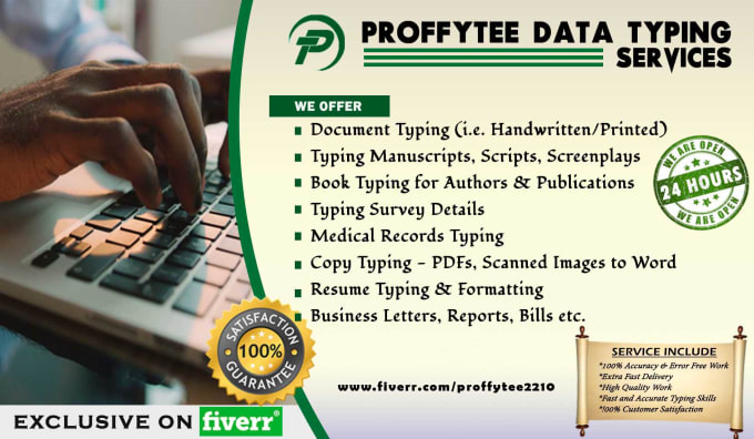 Do any typing or data entry job by proffytee2210 do any typing or data entry job altavistaventures Image collections
