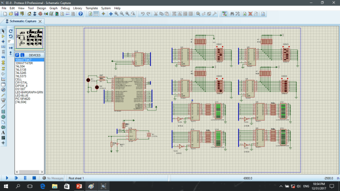 design a electronic circuit and pcb layout in proteus