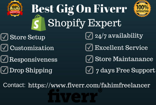 Setup and customize a complete shopify store by Fahimfreelancer