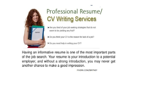 Write Rewrite A Perfect Resume Cv Cover Letter Linkedin By
