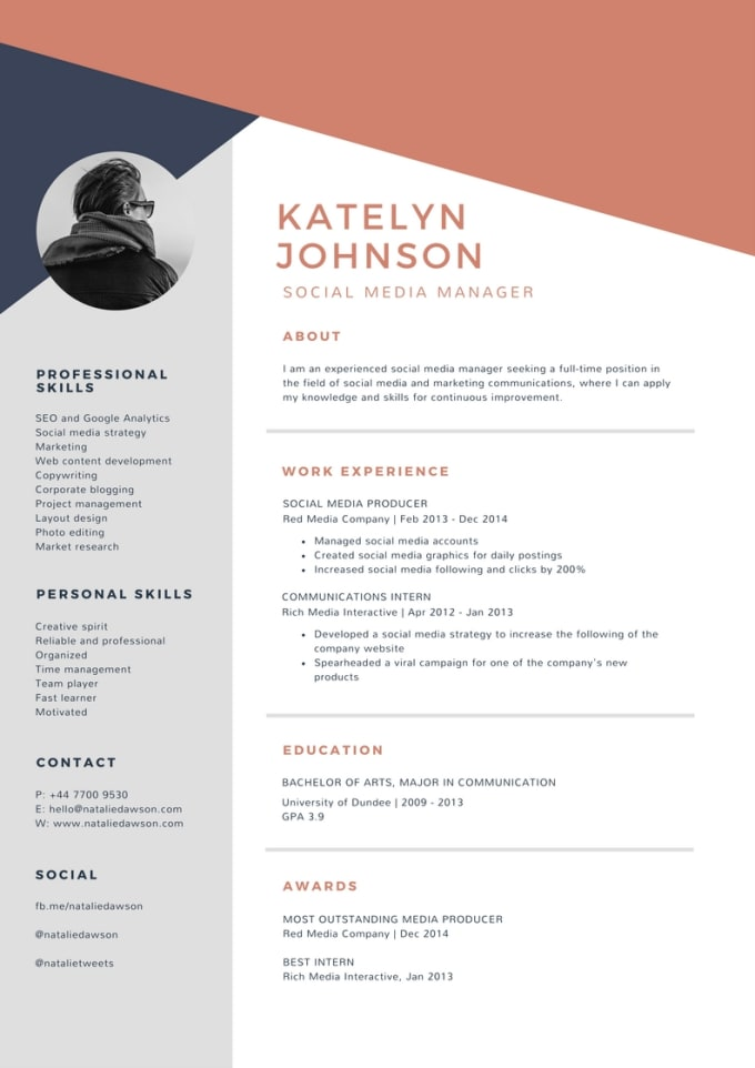 create an impressive resume for you by andre e