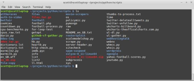 write python system script
