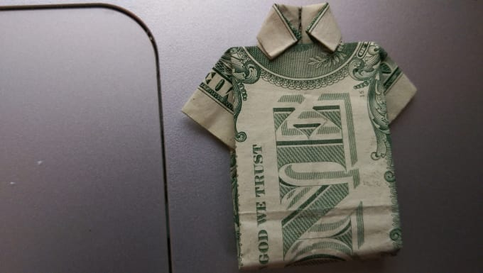 Make An Origami Shirt Out Of A Dollar Bill By Zoebgirl